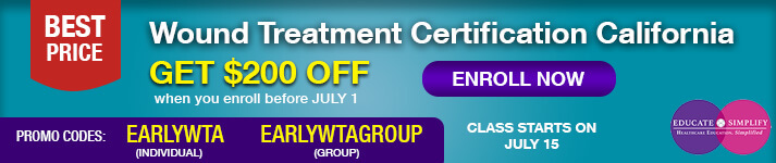 Get $200 Discount on Wound Treatment Certification using promo code