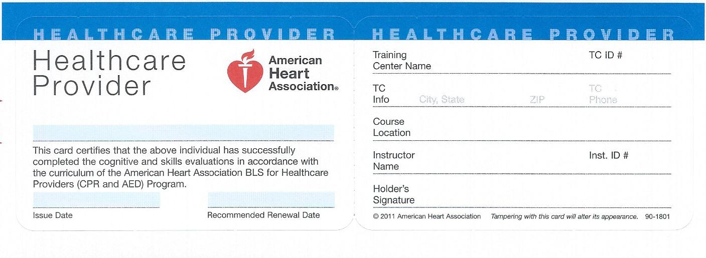 bls blank card basic support certification course cpr american heart skills angeles los completion remember bring please