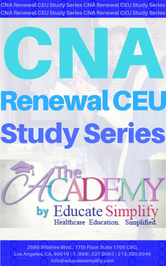 Cna Renewal Ceu Course Educate Simplify